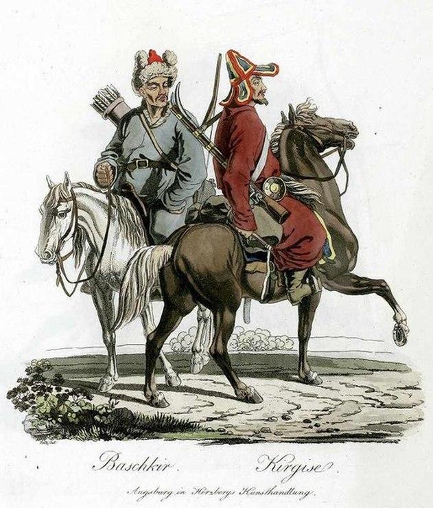 Parmi les cavaliers des steppes de l'armée russe comptaient également les Kirghizes.