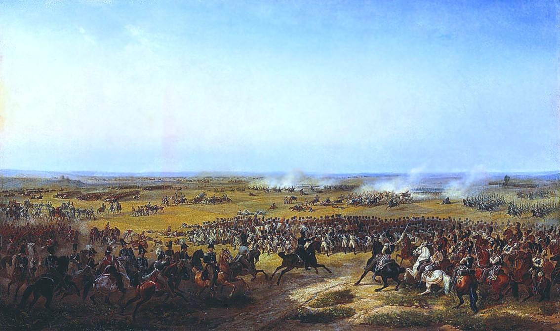 Bataille de Fère-Champenoise. Tableau de Vassili Timm