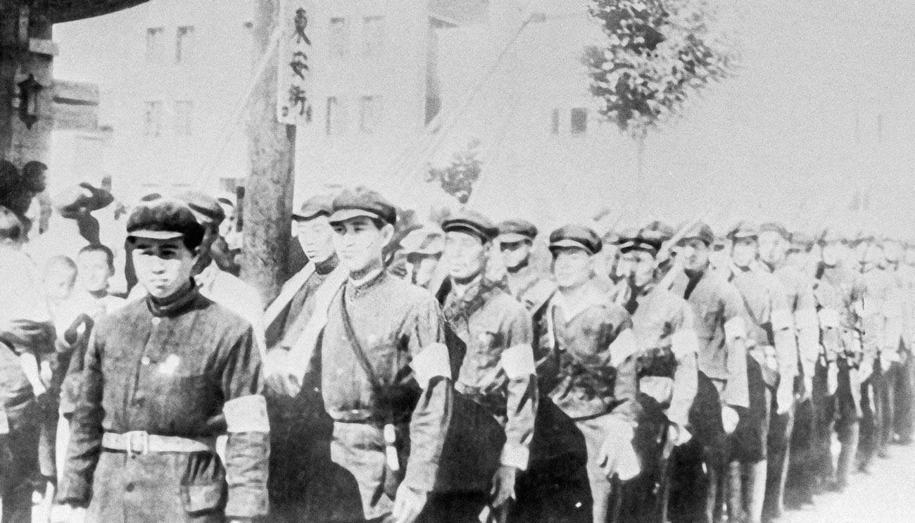 Radničko-seljački kineski odredi u vrijeme borbe s japanskim osvajačima.