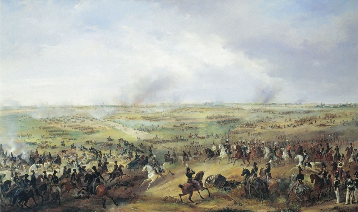 Bataille des Nations. Tableau d'Alexandre Sauerweid