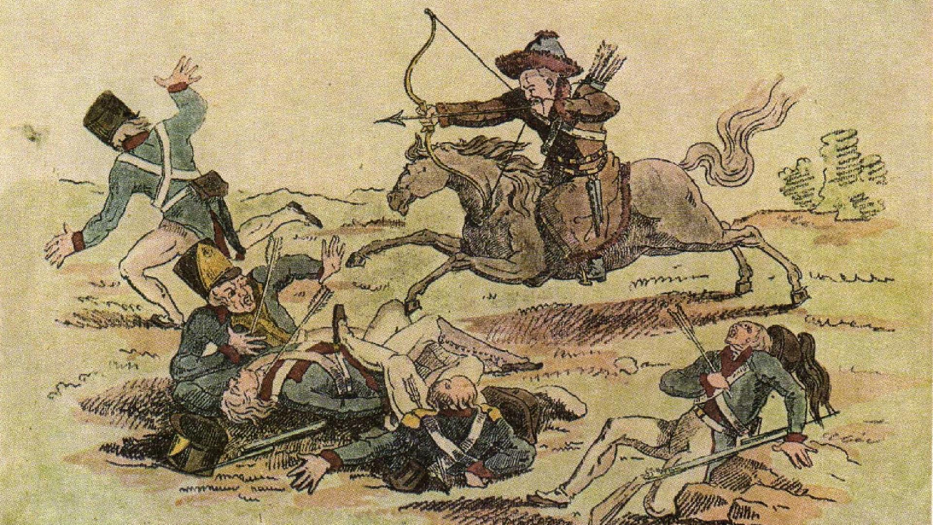 Les Bachkirs étaient surnommés «Amours du Nord» par les Français. Œuvre d'Alexeï Venetsianov