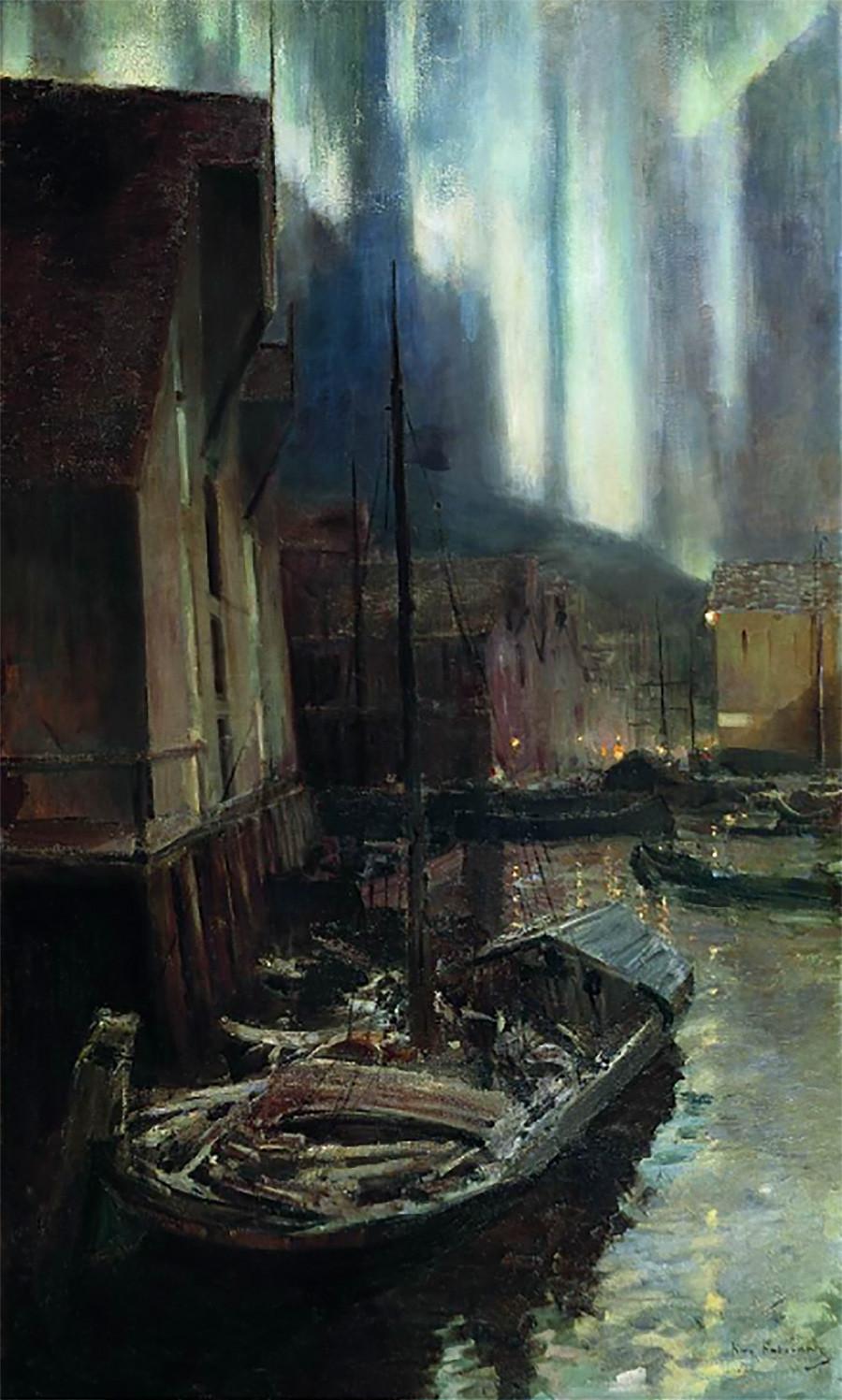 Hammerfest. Aurores boréales, 1894-95