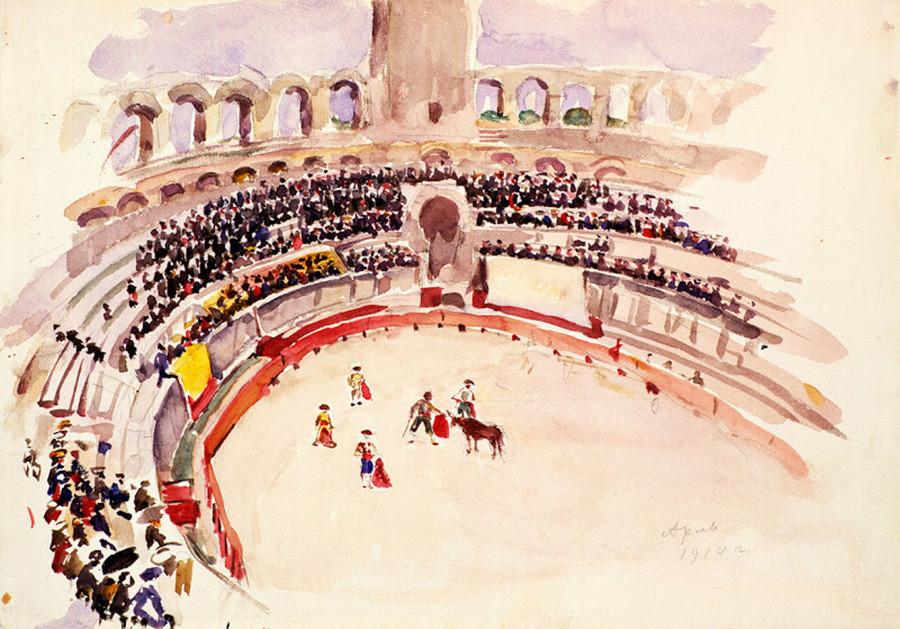 Arles, corrida, 1910