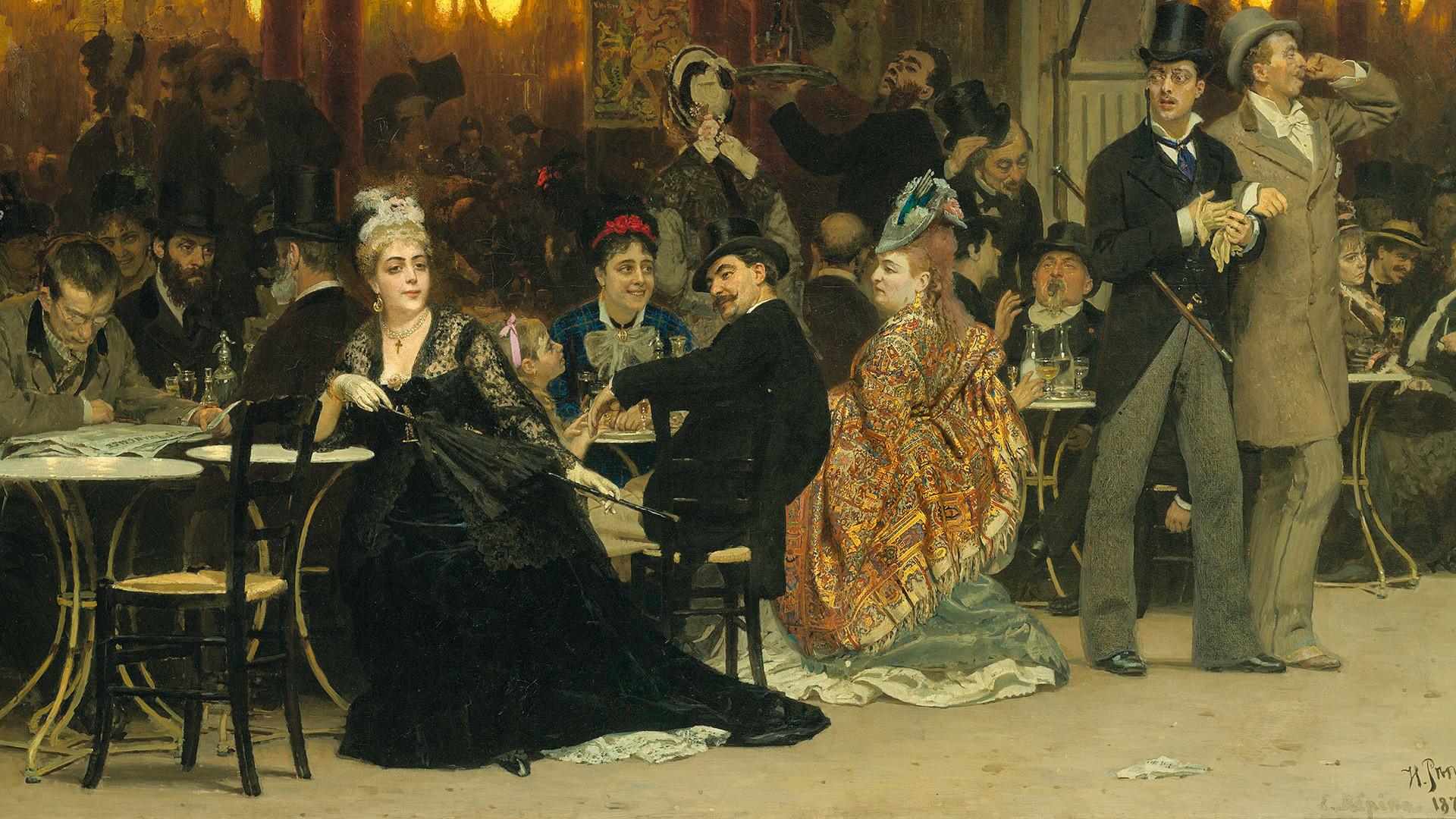 Café parisien, 1875