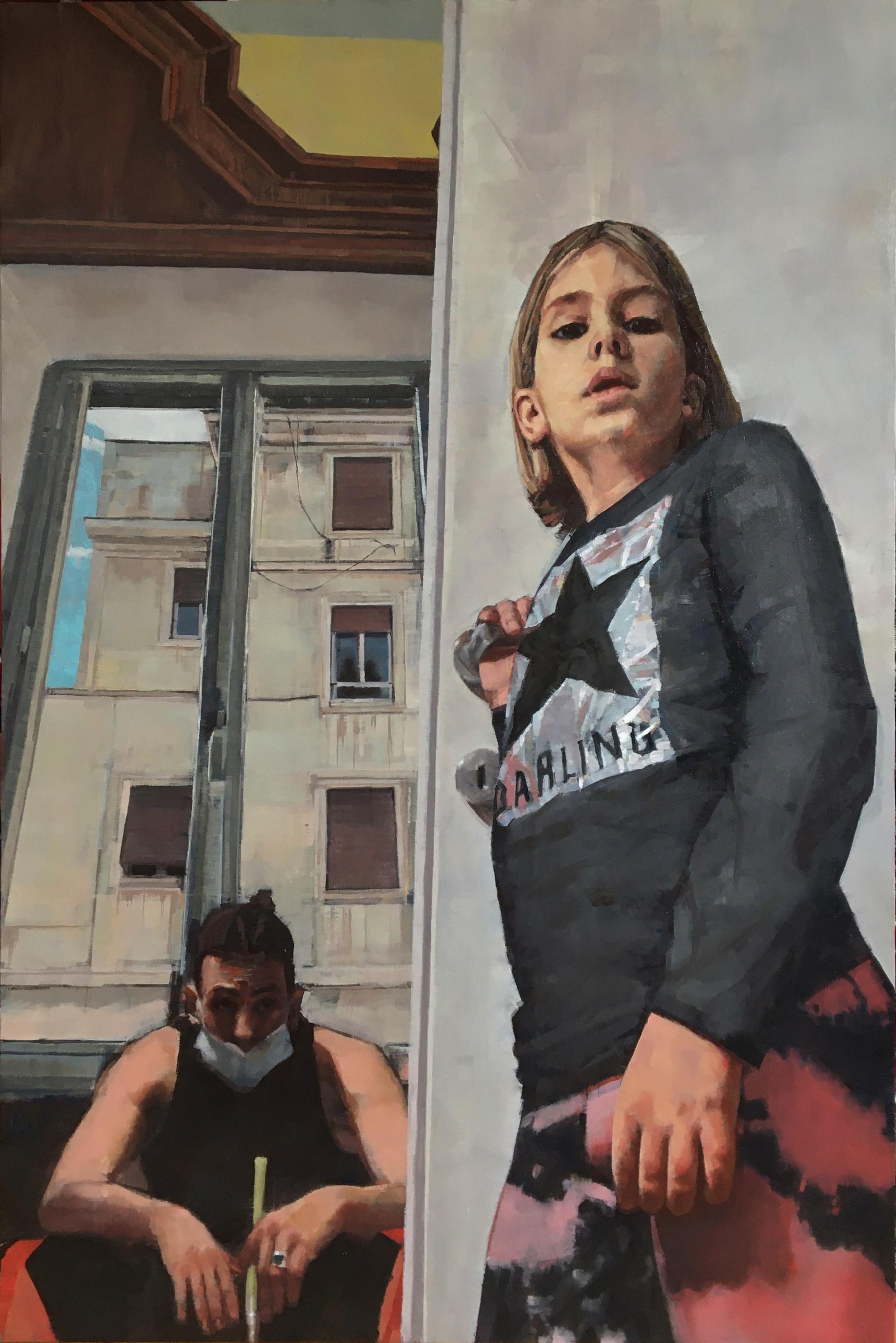 Jacopo Antonucci, 17 anni Ritratto di bambina e autoritratto allo specchio. Dialogo, dimensioni, punti di vista  Roma, 2020