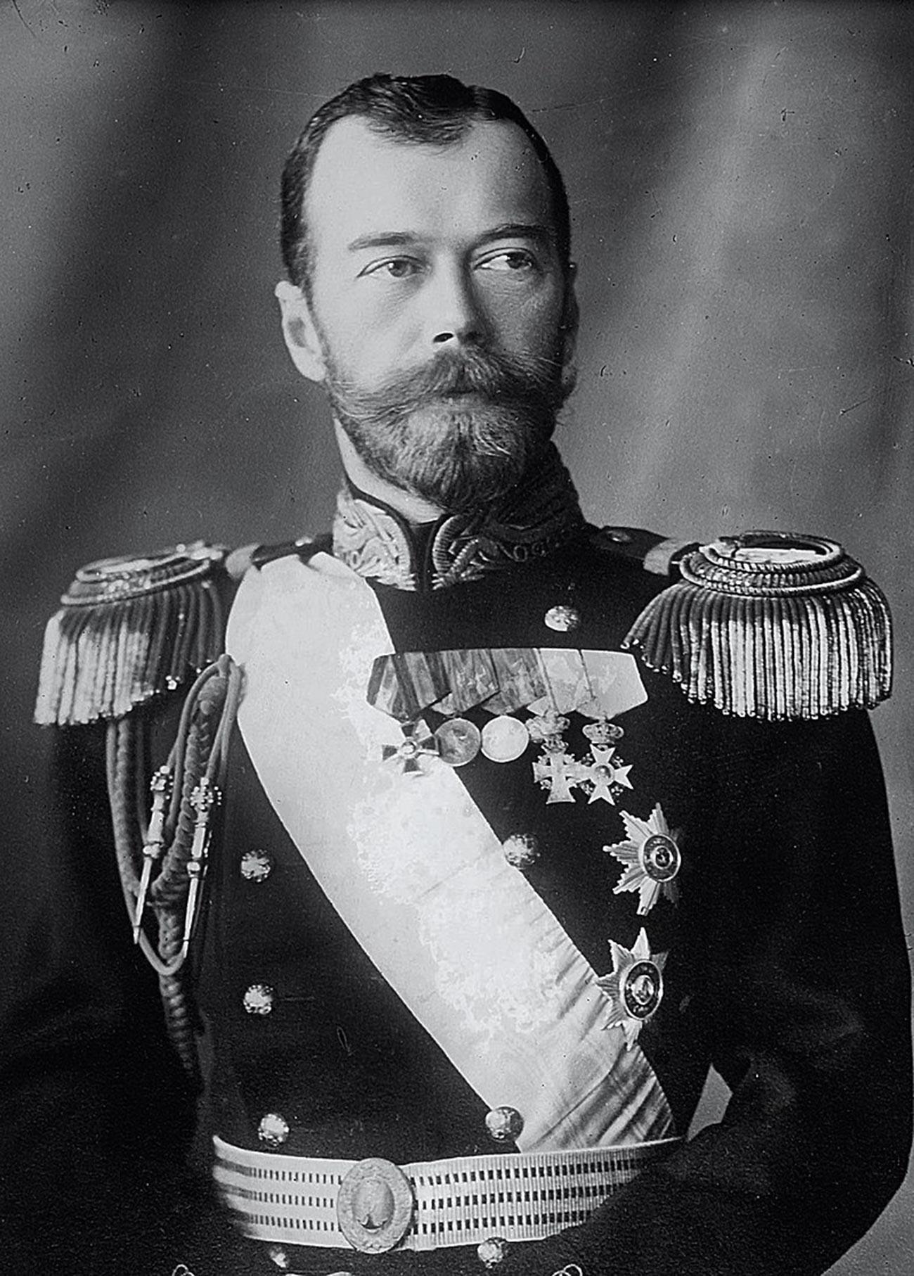 Porträt von Zar Nikolaus II.