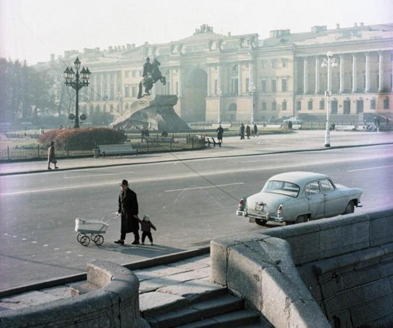 Il Cavaliere di Bronzo fotografato in epoca sovietica