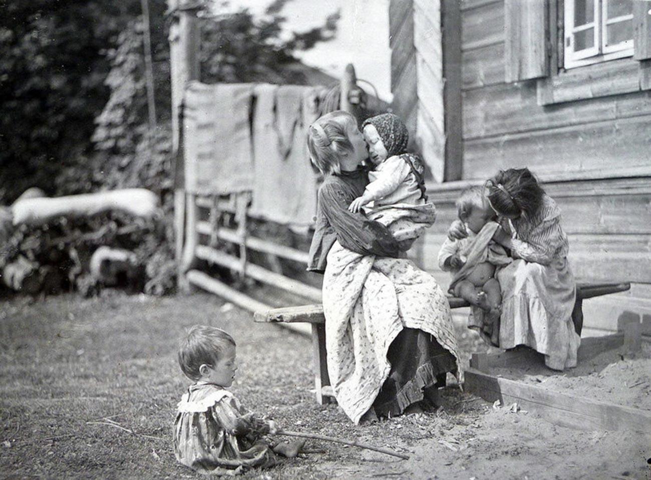 Niños campesinos