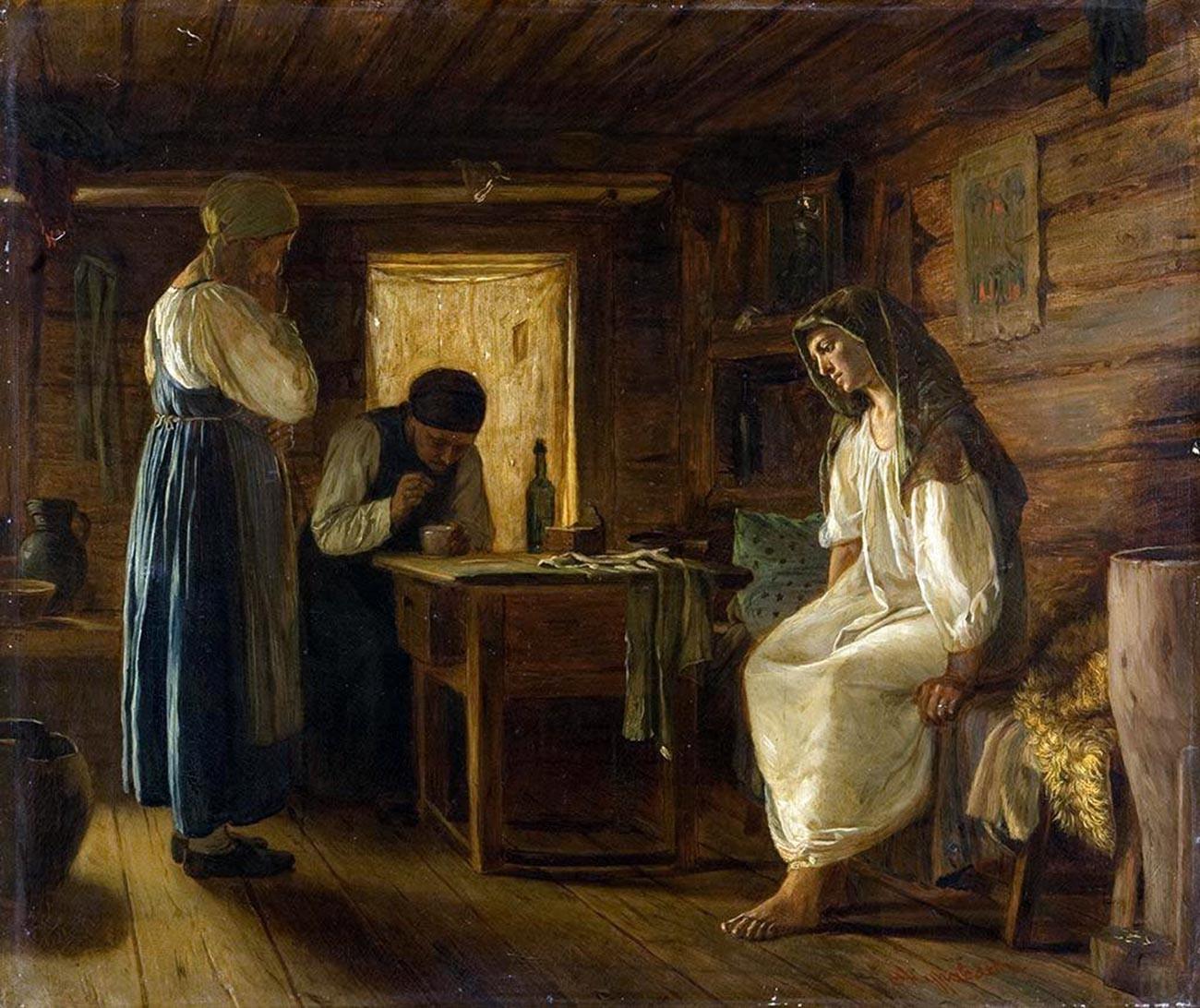 'A mulher sábia', de Firs Juravlev. As feiticeiras da aldeia costumavam ajudar as mulheres a se livrar de uma gravidez indesejada
