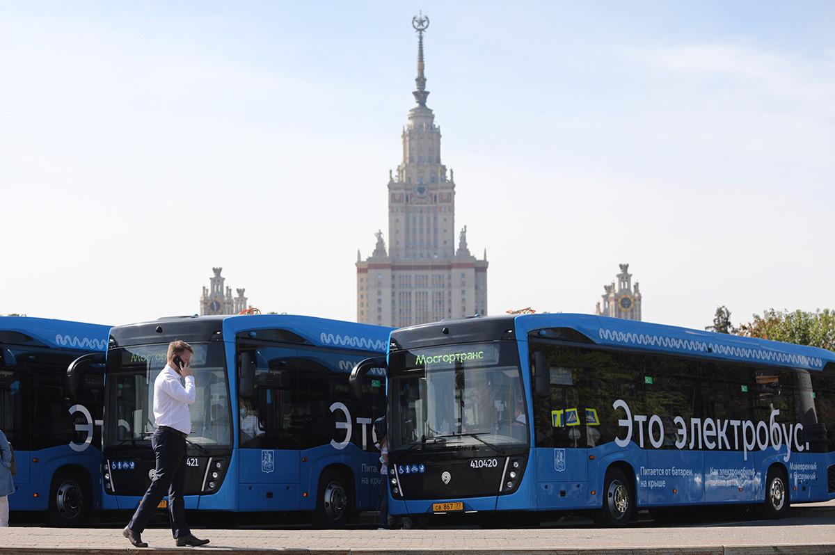 モスクワの電気バス