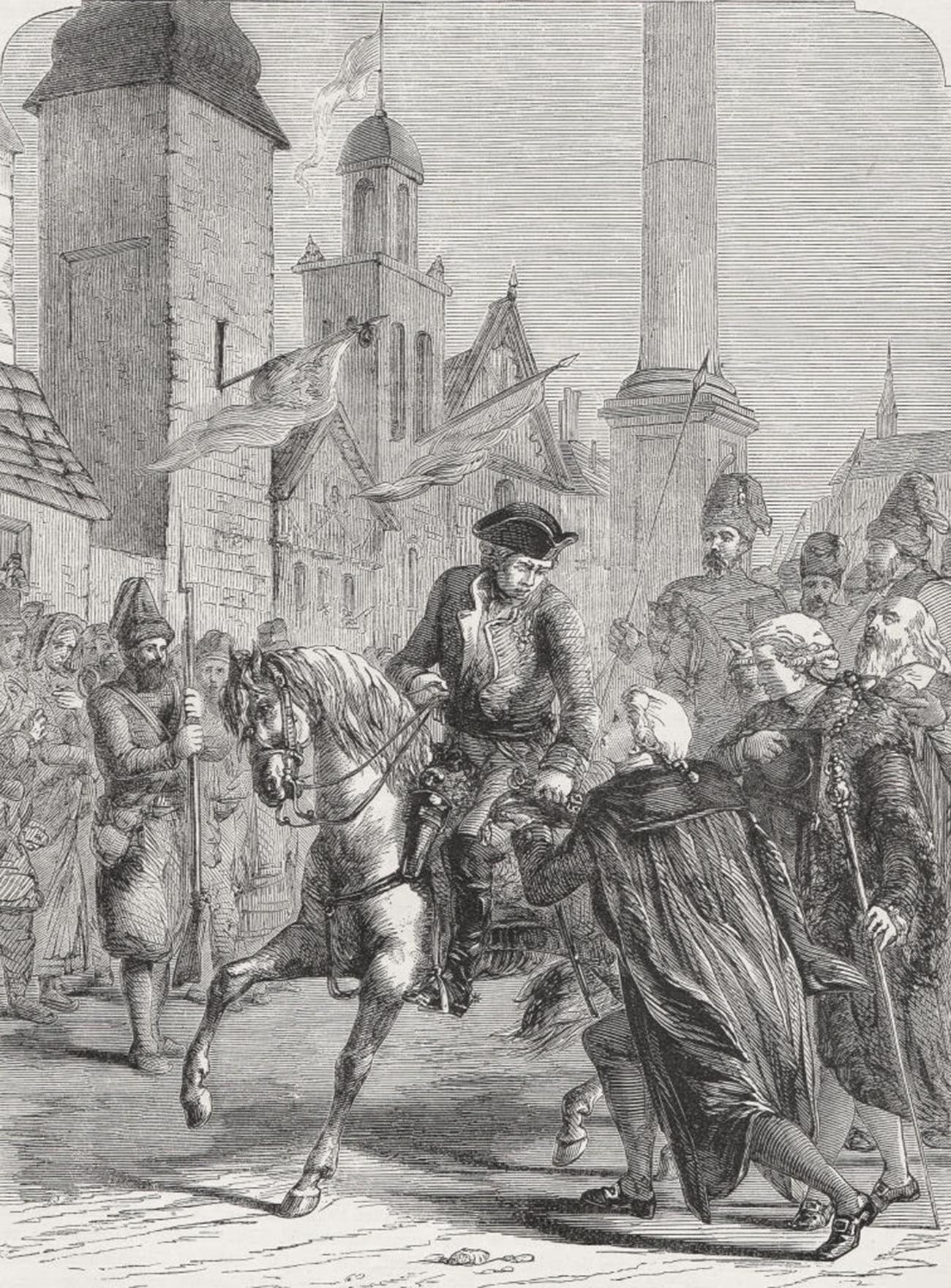 ワルシャワに入るスヴォーロフの軍
