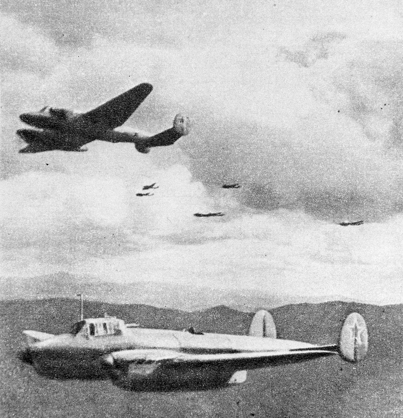 Soviet bombers in China.