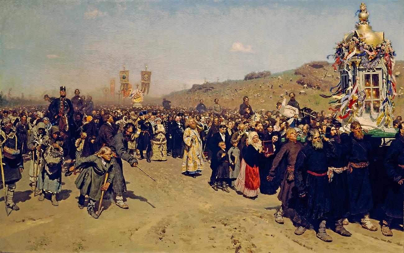 イリヤ・レーピン、『クルスク県の復活大祭の十字行』
