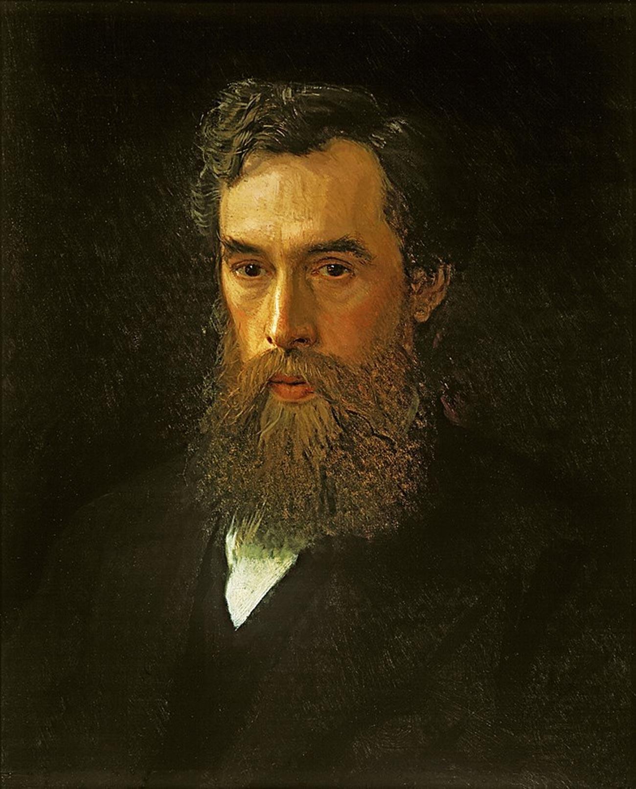 Ivan Kramskoi.  Portret van Pavel Tretyakov