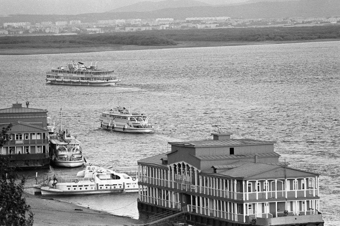 Boats in Khabarovsk, 1979.