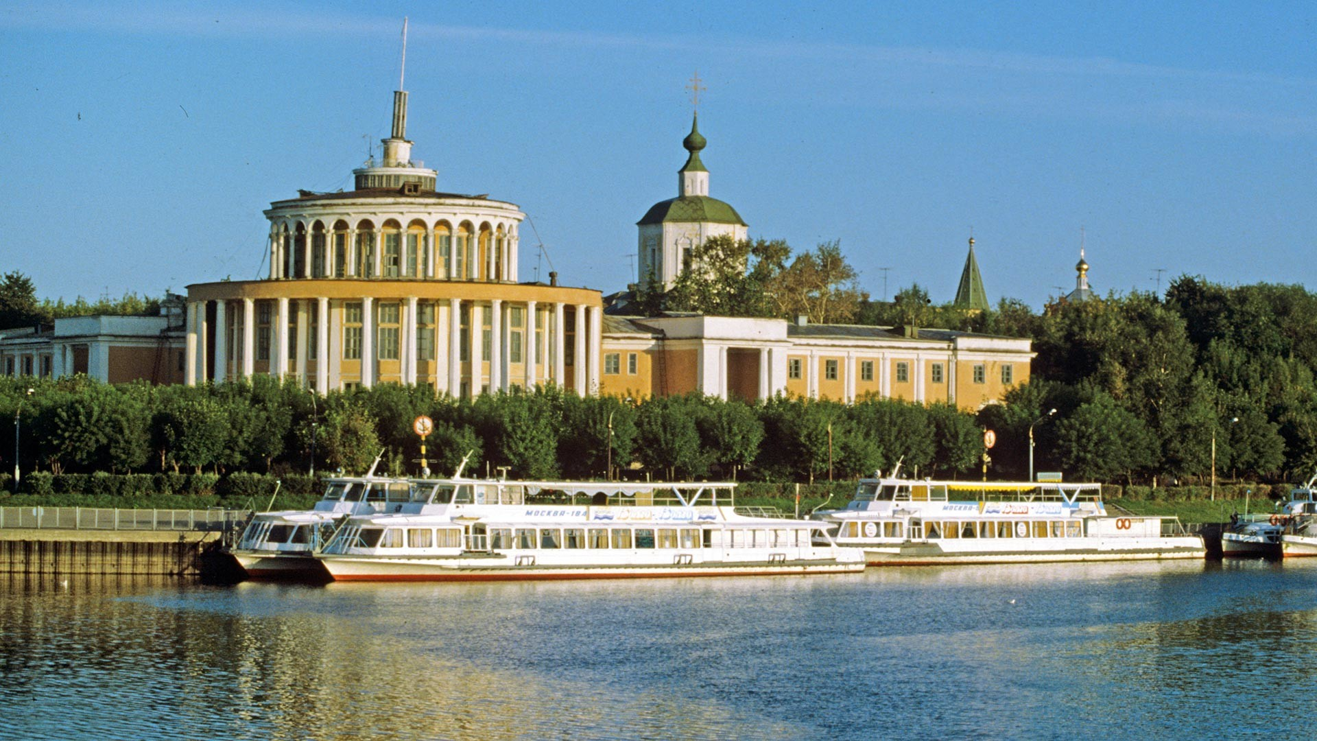 A river terminal in Tver, 1990s.