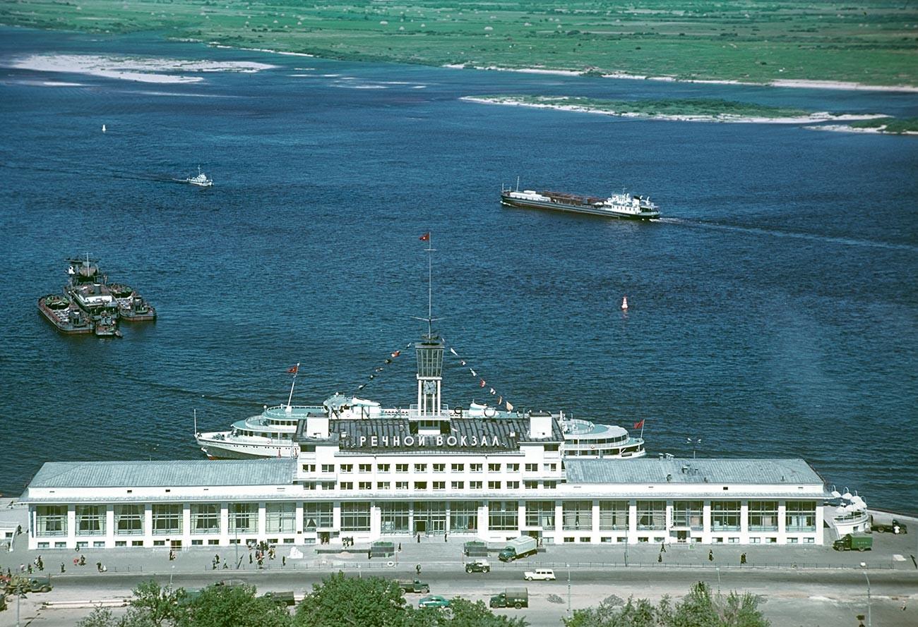 River boat station in 1974.