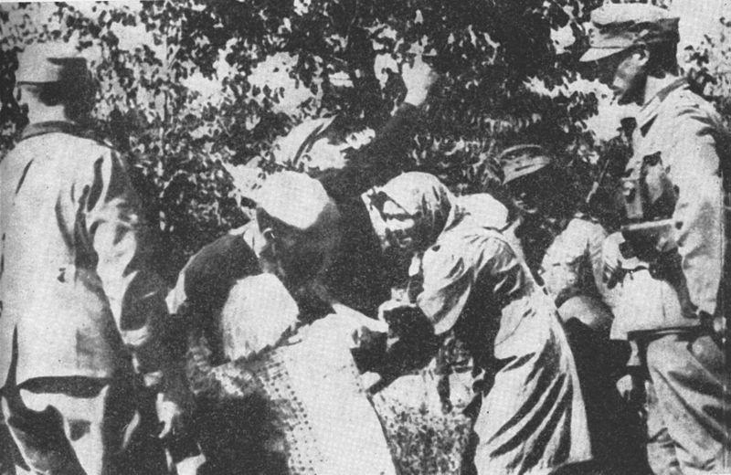 Rapto de niños polacos durante la operación de reasentamiento nazi-alemana en Zamojszczyzna (1942-1943).