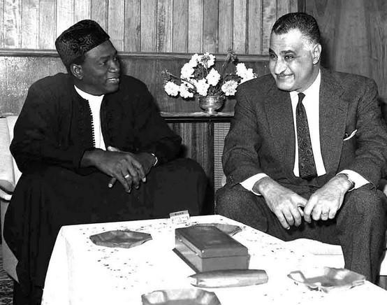 Modibo Keïta junto a Gamal Abdel Nasser