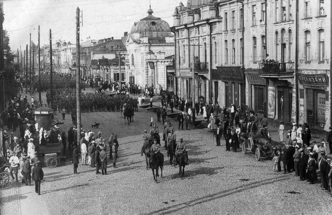 Einheiten des tschechoslowakischen Korps in Irkutsk.