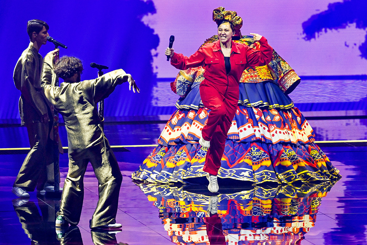 Maniža tijekom prve generalne probe uoči prve polufinalne večeri 65. izdanja Eurosonga u Rotterdamu, 17. svibnja 2021.