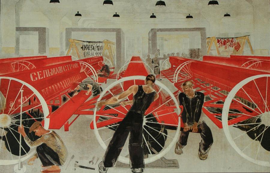 Selmaschstroj Plakat, 1930.