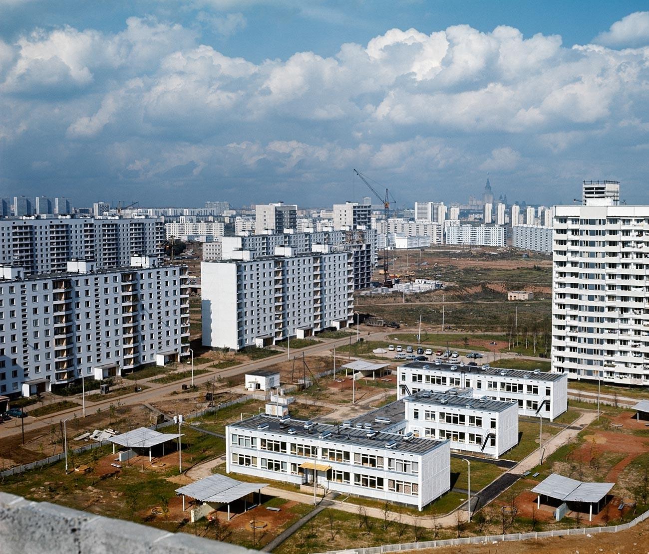 Un quartier résidentiel de Moscou