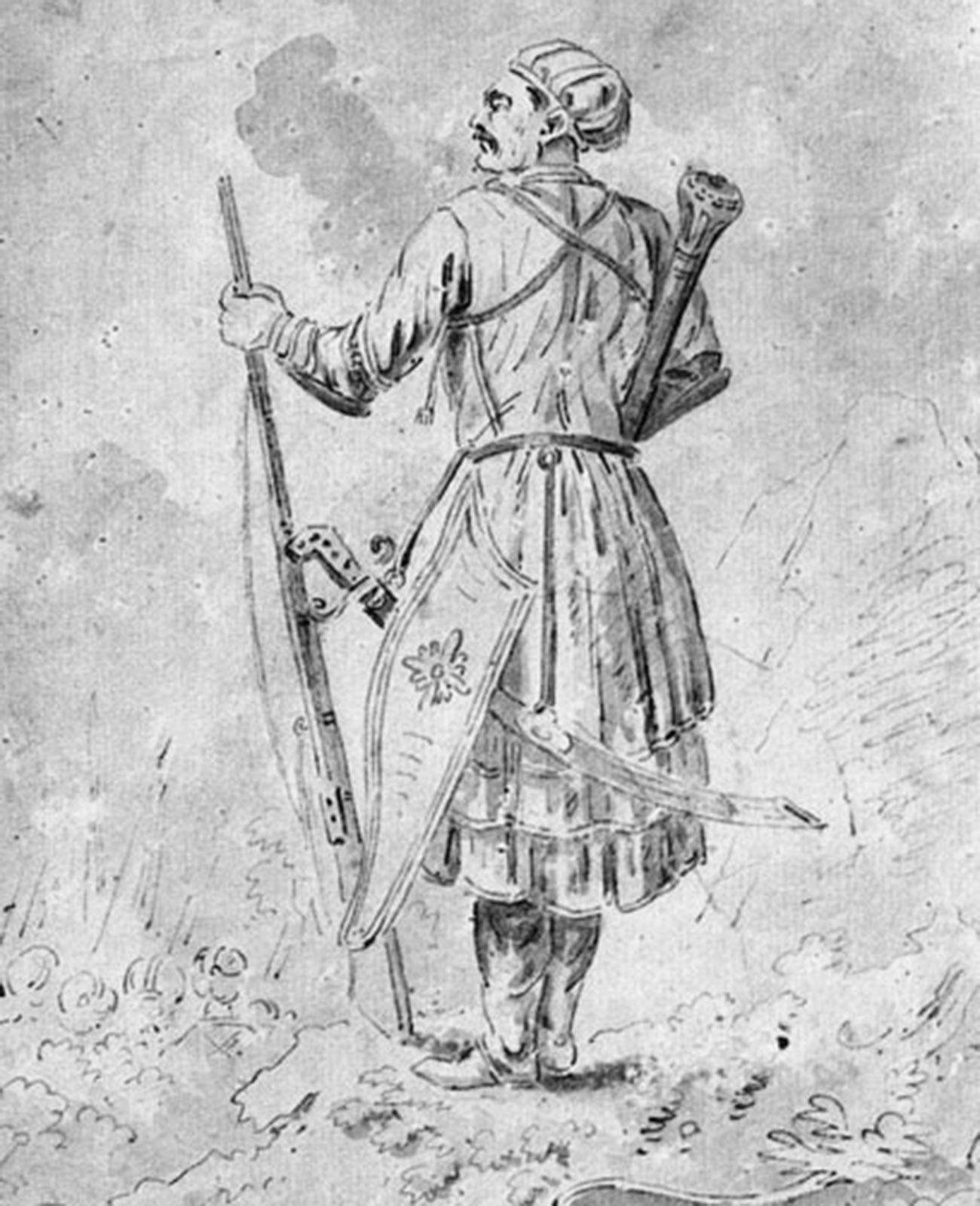 Ritratto del principe Aleksandr Bekovich-Cherkasskij, inizio del 1700