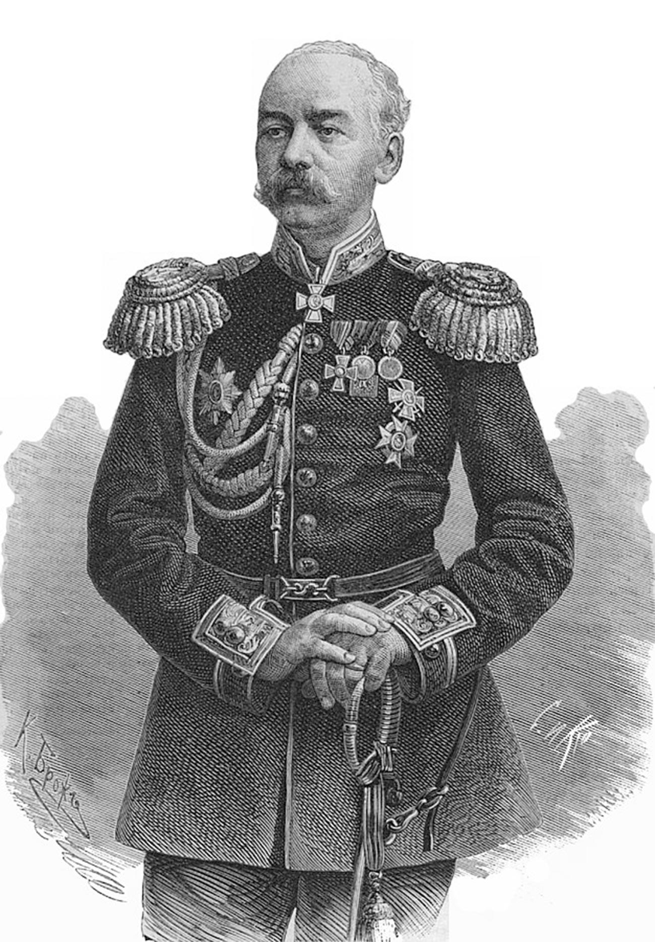 Konstantin Petrovich von Kaufman, generale russo, primo governatore del Turkestan