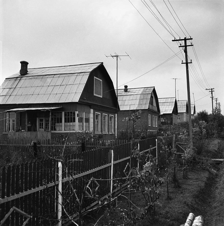 A dacha settlement outside Moscow
