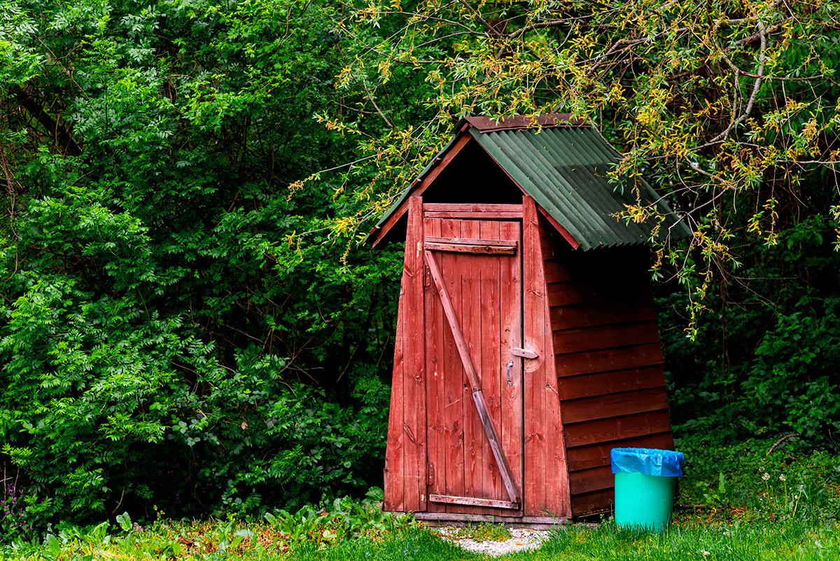 A dacha toilet