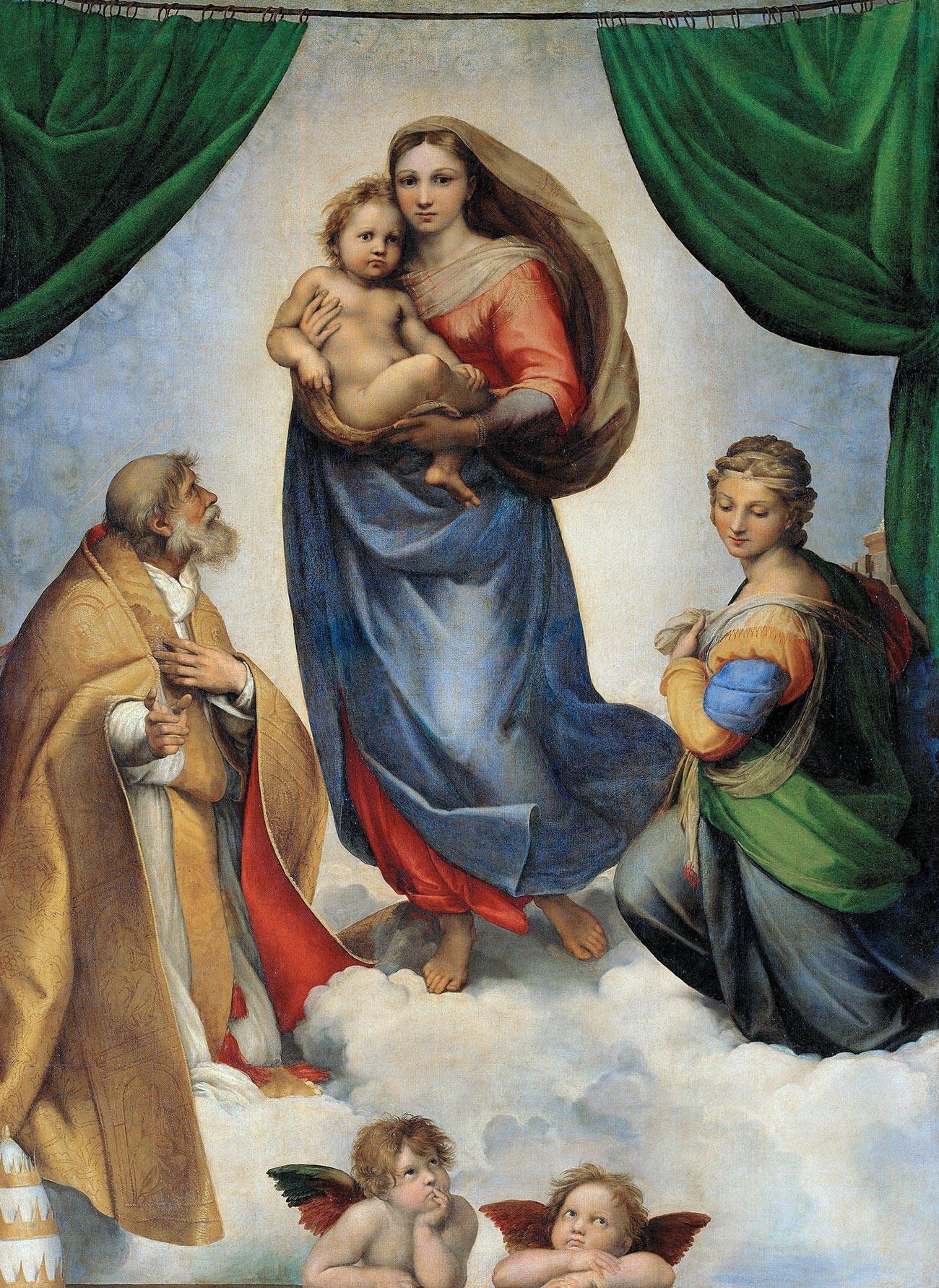 『システィーナの聖母』、ラファエロ