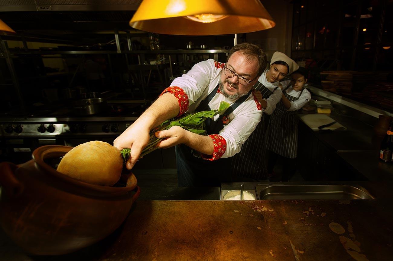 Vladislav Piskunov, chef at the Matryoshka restaurant.