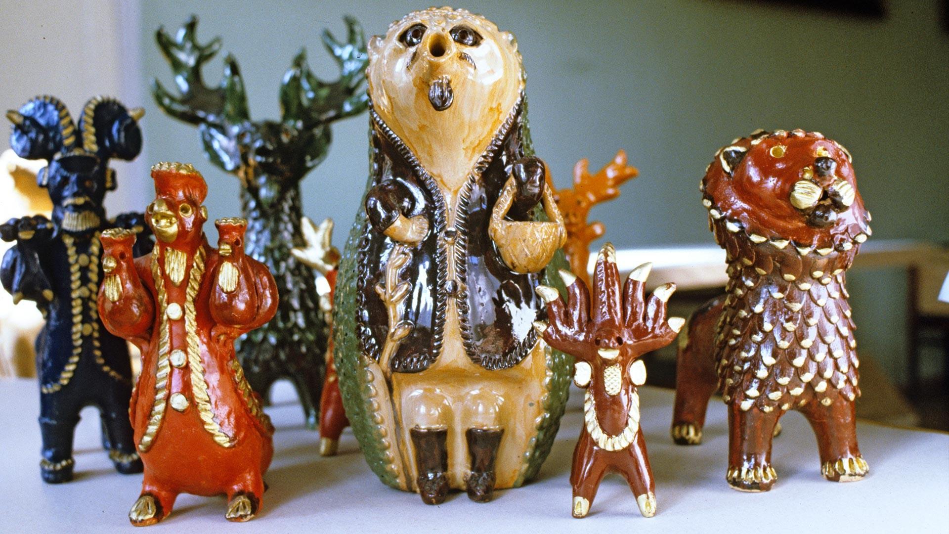 Абашевские глиняные игрушки. Пензенские художественно-производственные мастерские.