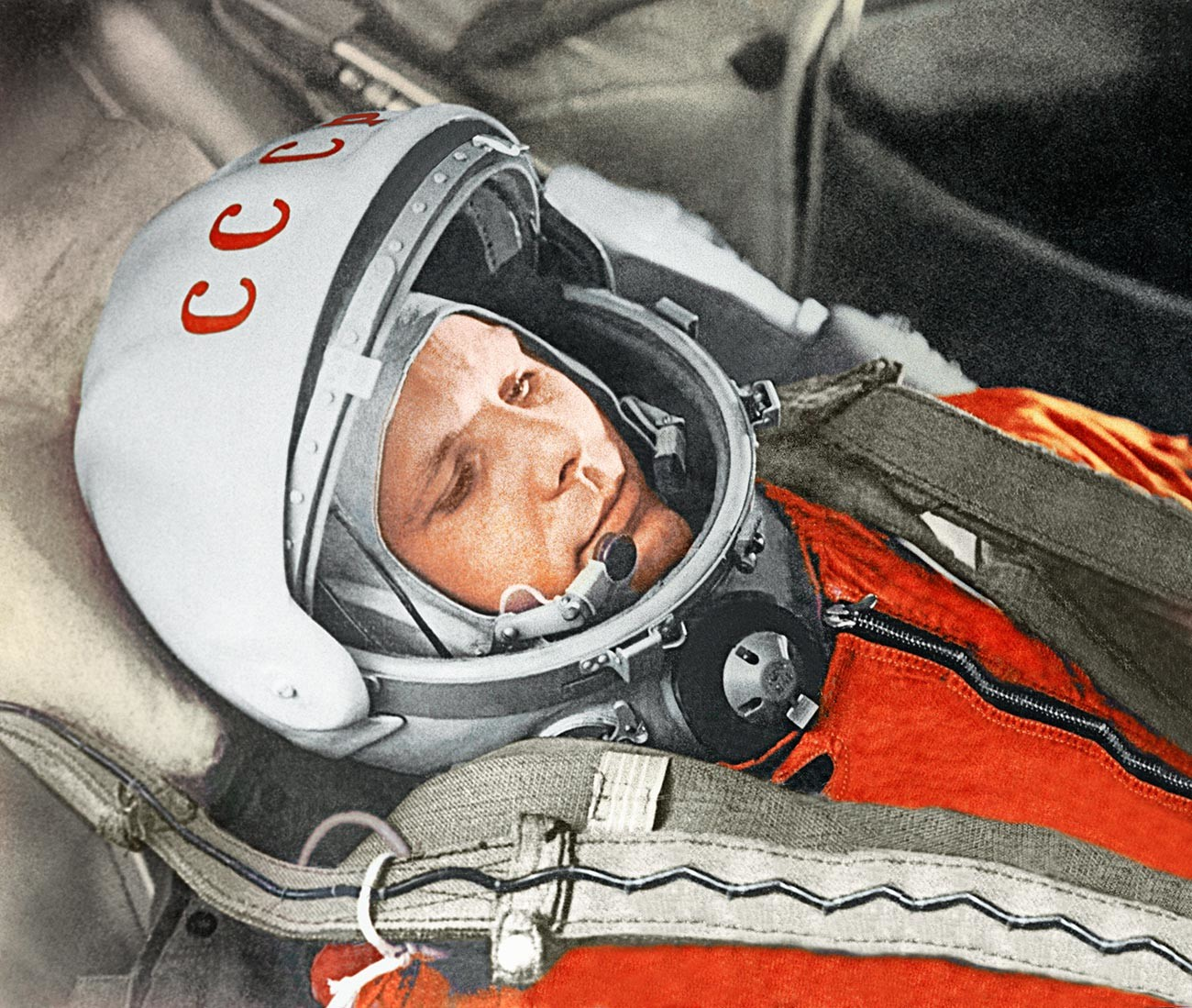 Yury Gagarin on April 12, 1961.