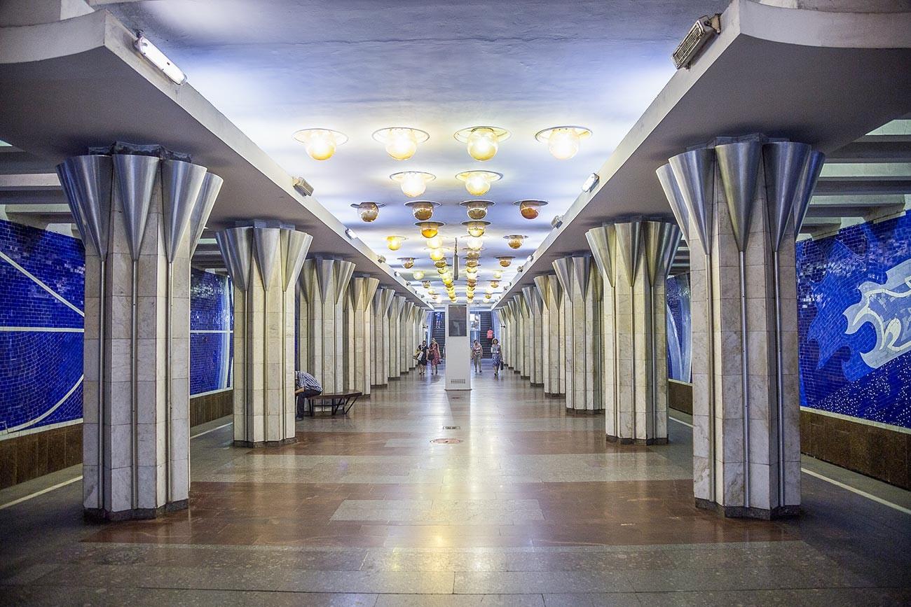 Gagarinskaya station.