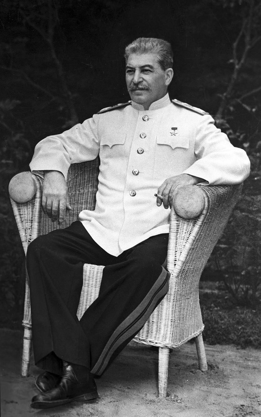 Josef Stalin selama Konferensi Potsdam.