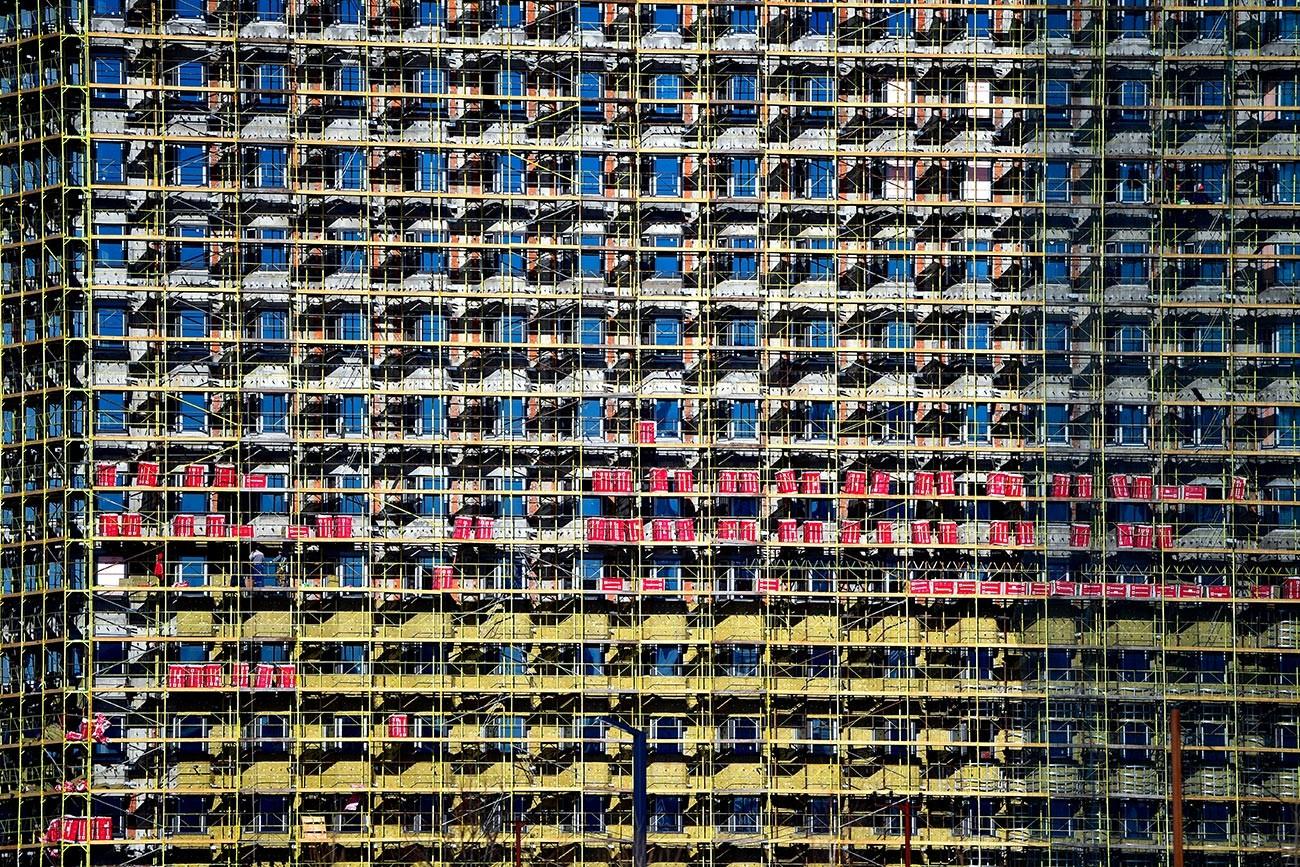 Immeuble en construction à Moscou