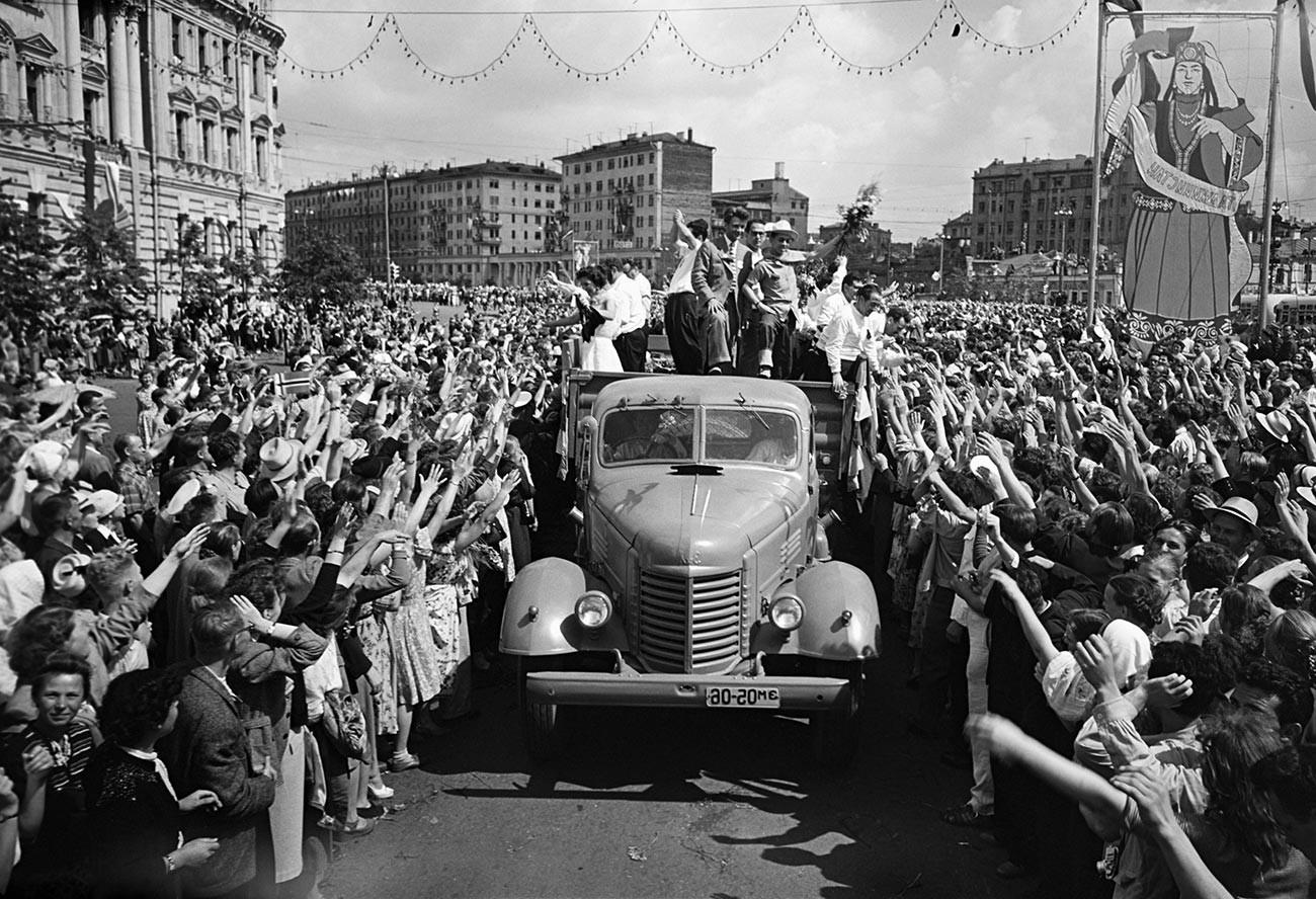 Weltfest der Jugend und Studenten in der UdSSR.