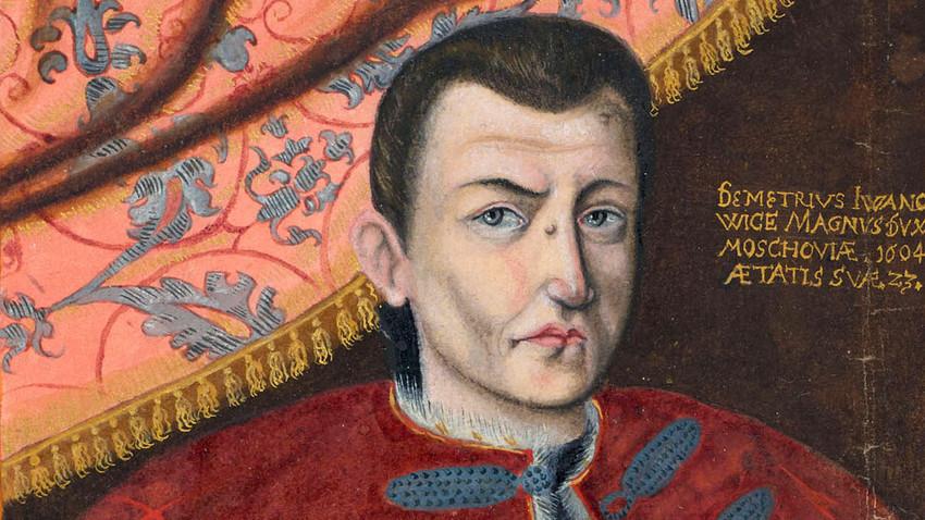 Dmitry I palsu. Dari Thesaurus Picturarum, 1564—1606. Ditemukan dalam Koleksi Universitaets und Landesbibliothek Darmstadt.
