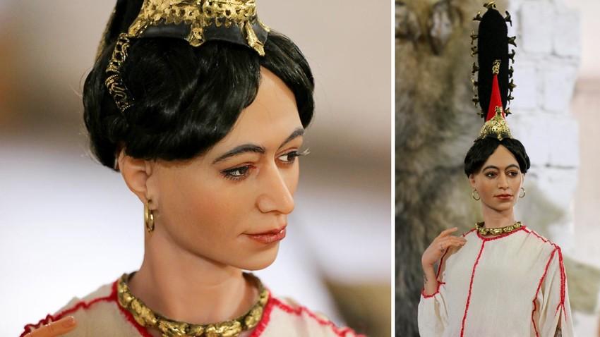 Rekonstruksi artistik potret Gadis Es Siberia oleh Ekaterina Shardakova.