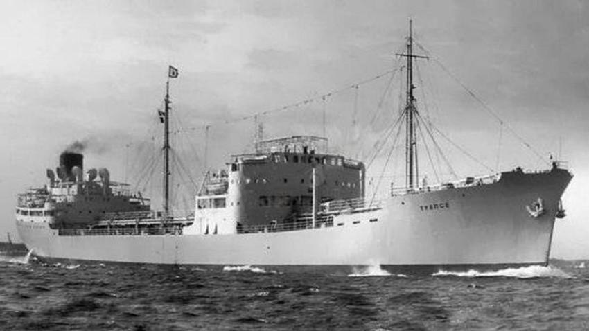 "Der sowjetische Tanker ""Tuapse""."
