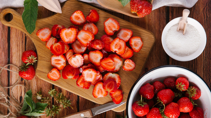 In the summer, strawberries can be found everywhere, from desserts to soups!