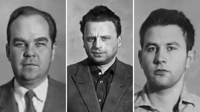 Yan Rokotov, Vladislav Faibishenko e Dmitrij Yakovlev