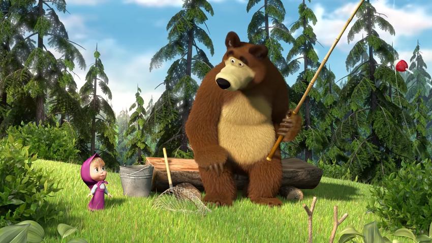 risanka Maša in medved