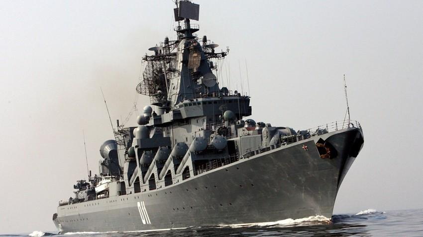 El crucero de misiles ruso Variag.