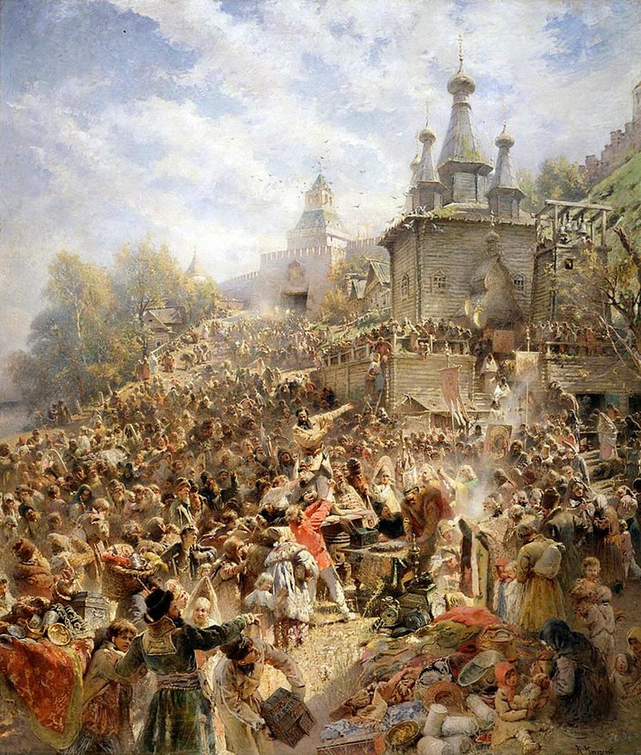 """Apelo de Mínin aos cidadãos de Níjni Nôvgorod"", de Konstantín Makóvski."