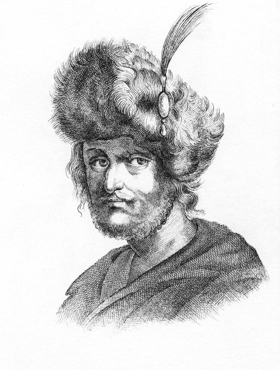 Dmitry II palsu (satu-satunya ilustrasi yang diduga menggambarkan sosok sang tsar palsu)