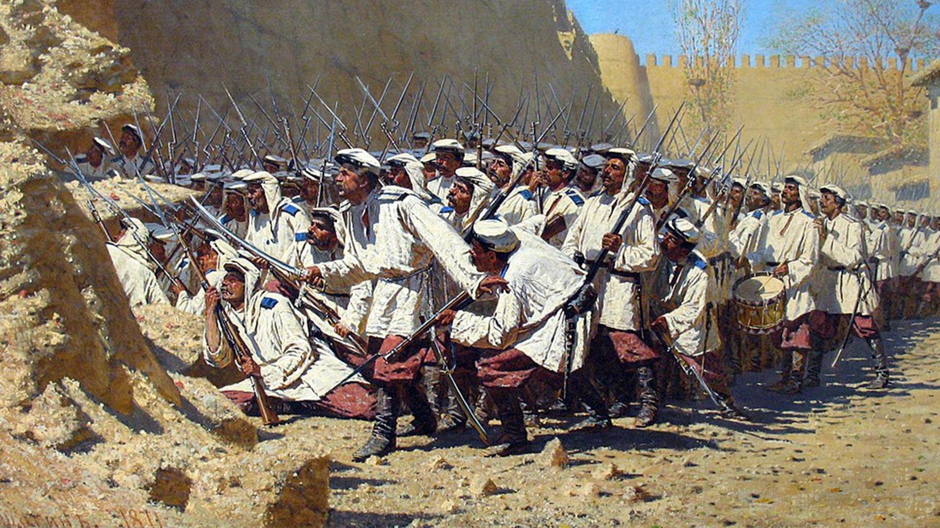 """""""Junto al muro de la fortaleza. Que entren""""."""