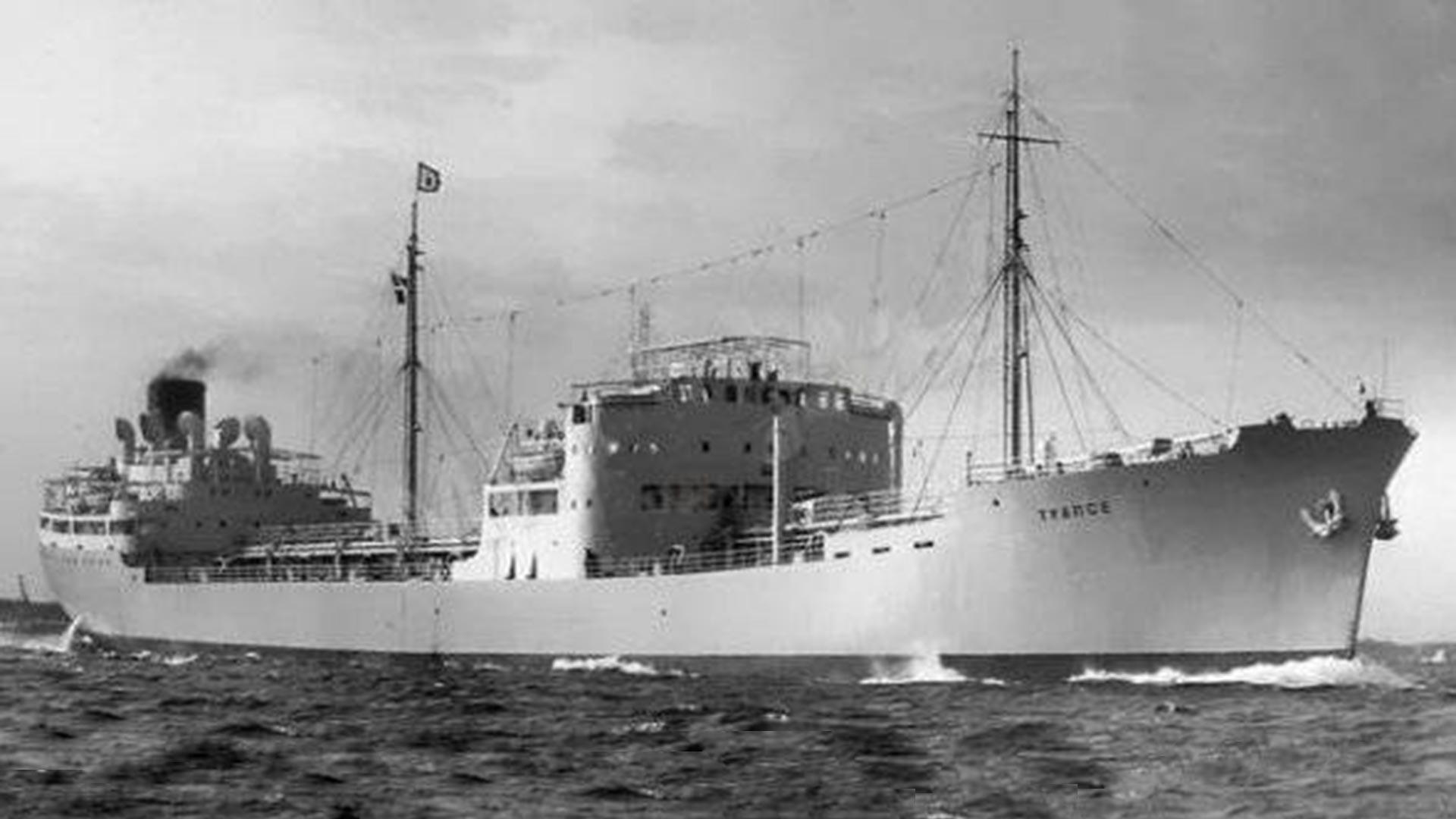 The Soviet tanker 'Tuapse'.